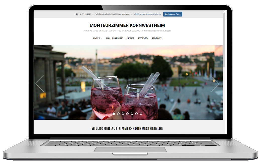 Screenshot Monteurzimmer